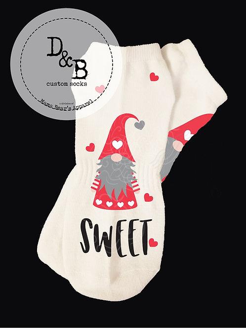 Big You're Gnome Sweet Valentine Socks
