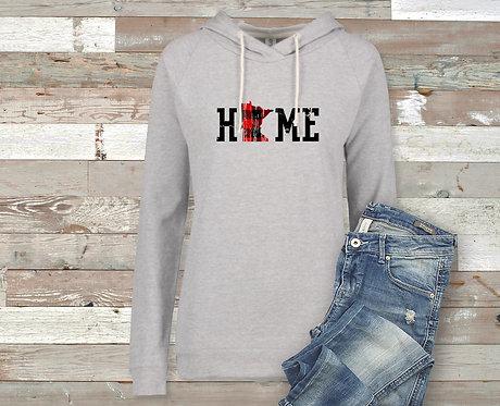 Distressed Design Minnesota HOME Women's Sweatshirt