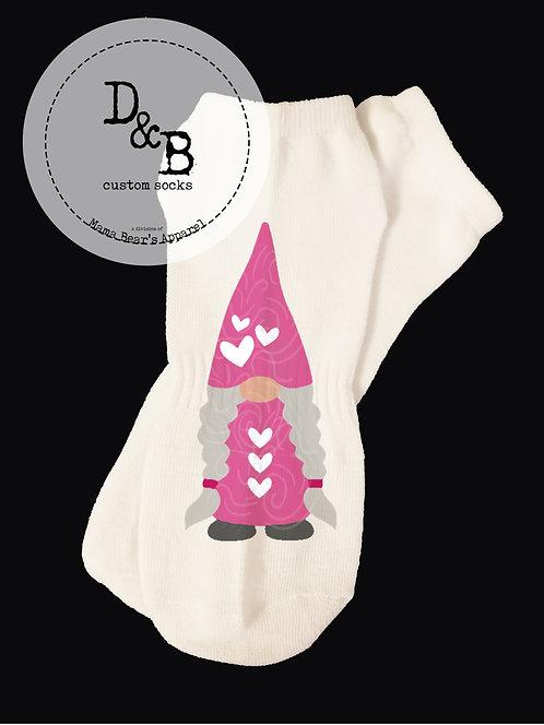 Mama Gnome Valentine Socks