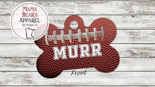 Football - Personalized Dog Name Tag