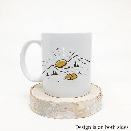 Camping Hiking Mountains Coffee Mug