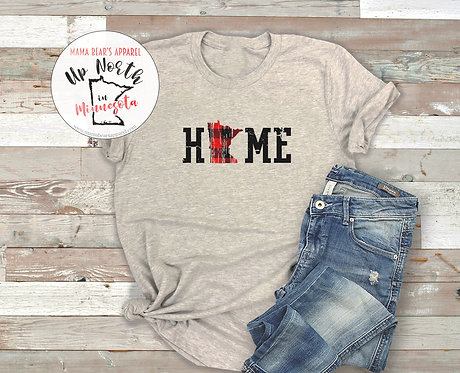 MN Home with Buffalo Plaid Distressed