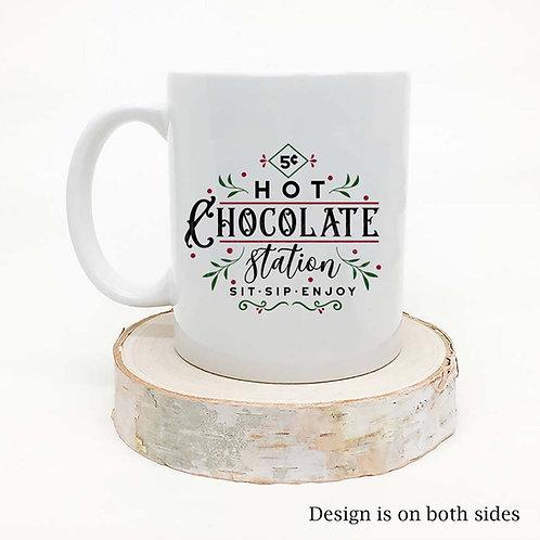 Hot Chocolate Station - Christmas Holiday Coffee Mug