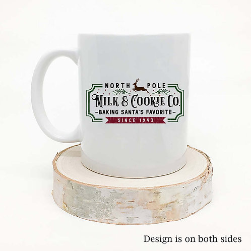 North Pole Milk & Cookie Company Coffee Mug