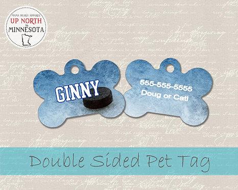 Hockey and Hockey Puck Dog Tag -  Personalized Dog Name Tag