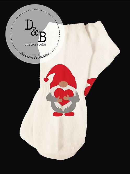 Gnomes & Hearts Valentine Socks