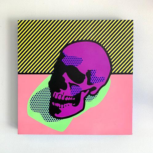 """Joe Suzuki - """"Lichtenstein Style - Warhol's Skull"""""""