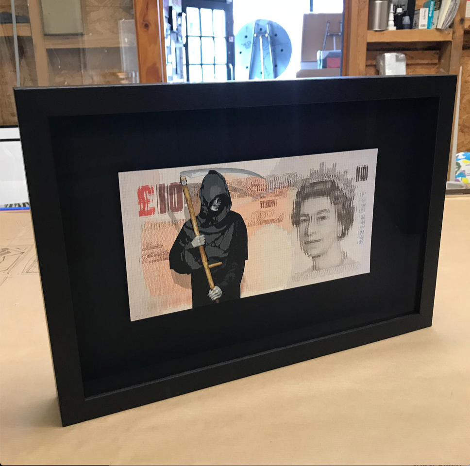 """Grim - Inflation""  Framed"