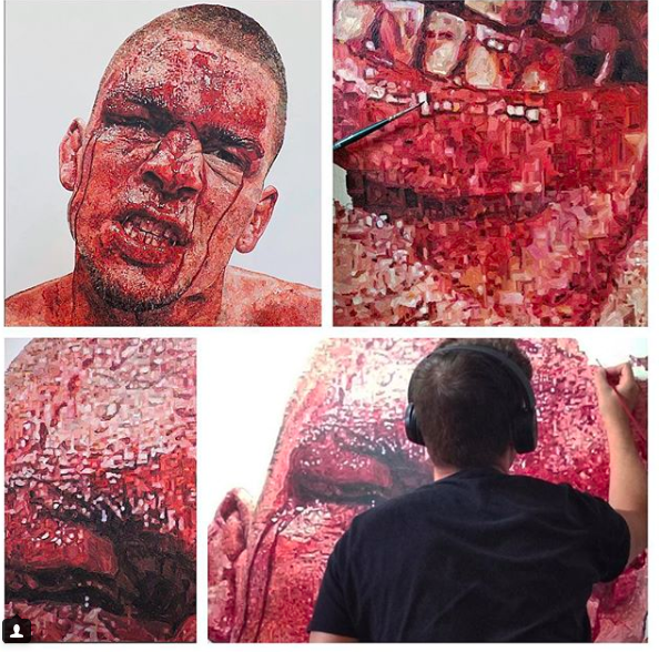"""Self Portrait"" Nate Diaz - details"