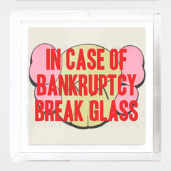 """In Case of Bankruptcy - Kaws"""