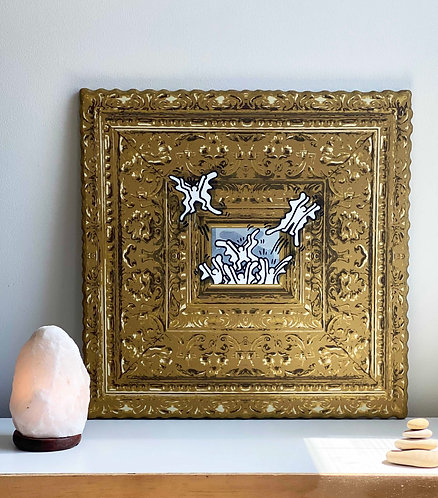 """E.Lee  - """"Ode to Keith Haring No.9"""" (hangs on wall)"""