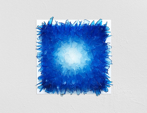 """Kevin Champeny - """"Shattered in Blue"""" (Rubber Glass)"""