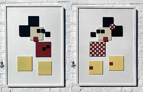 "Ali B - ""Mickey and Minnie"" (diptych)"