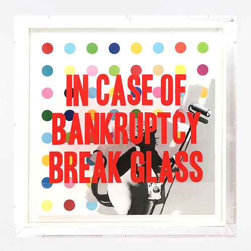 """Thirsty Bstrd - """"In Case of Bankruptcy - Banksy/Hirst"""""""