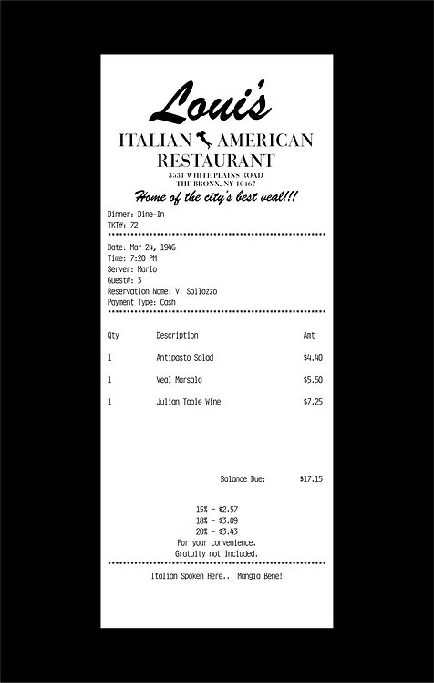 "Jason Brueck - ""Godfather receipt"""