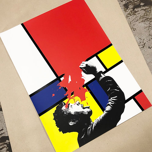 """Kunstrasen - """"Soak Up Art When You Can """" print (Red edition)"""
