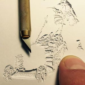 Cut stencil