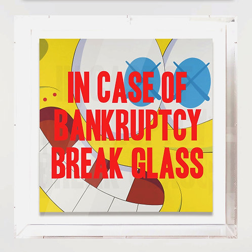 "Thirsty Bstrd - ""In Case of Bankruptcy - Kaws/SpongeBob"""