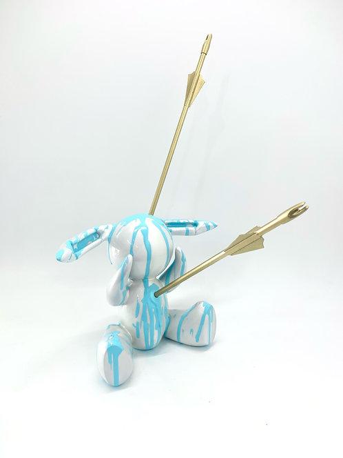 """Joe Suzuki - """"Follow the White Balloon Rabbit - Series #1 (light blue)"""""""