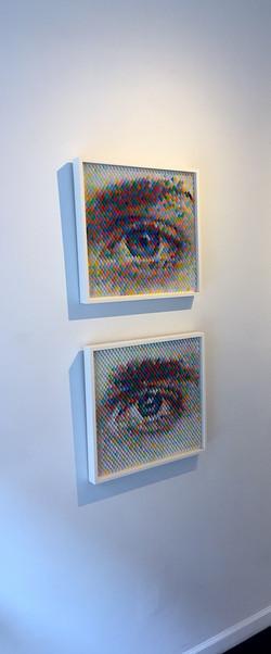 """Peter Combe """"Eyes"""" in situ"""