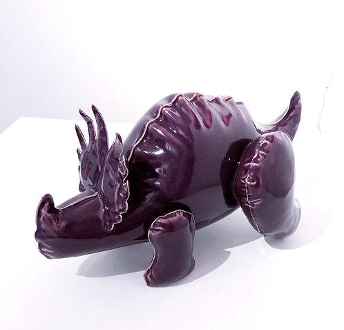 """Brett Kern - """"Medium Purple Inflatable  Styraccosaurus"""" (with gold plug)"""
