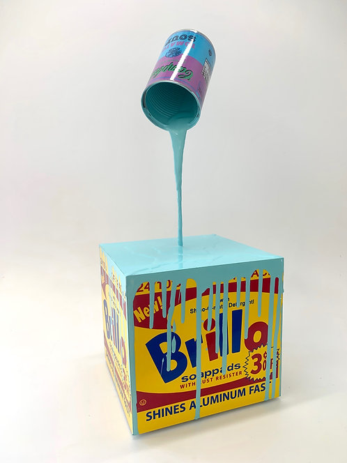 "Joe Suzuki - ""Happy Accident - Brillo Box, Aqua"""