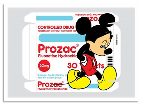 "Ben Frost - ""MICKEY PROZAC""  Framed (Printers Proof) (Last 1, from our archives)"