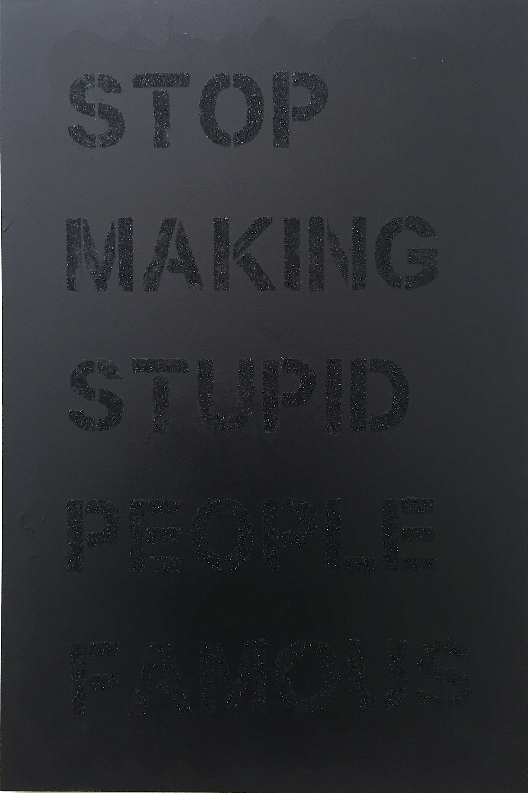 """Stop Making Stupid People Famous"""