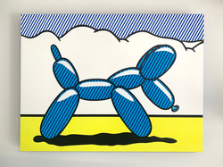 """Lichtenstein Style -Balloon Dog"""