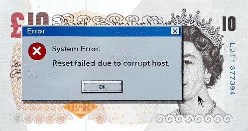 """Penny - """"System Error - Sterling"""" Framed In Black"""