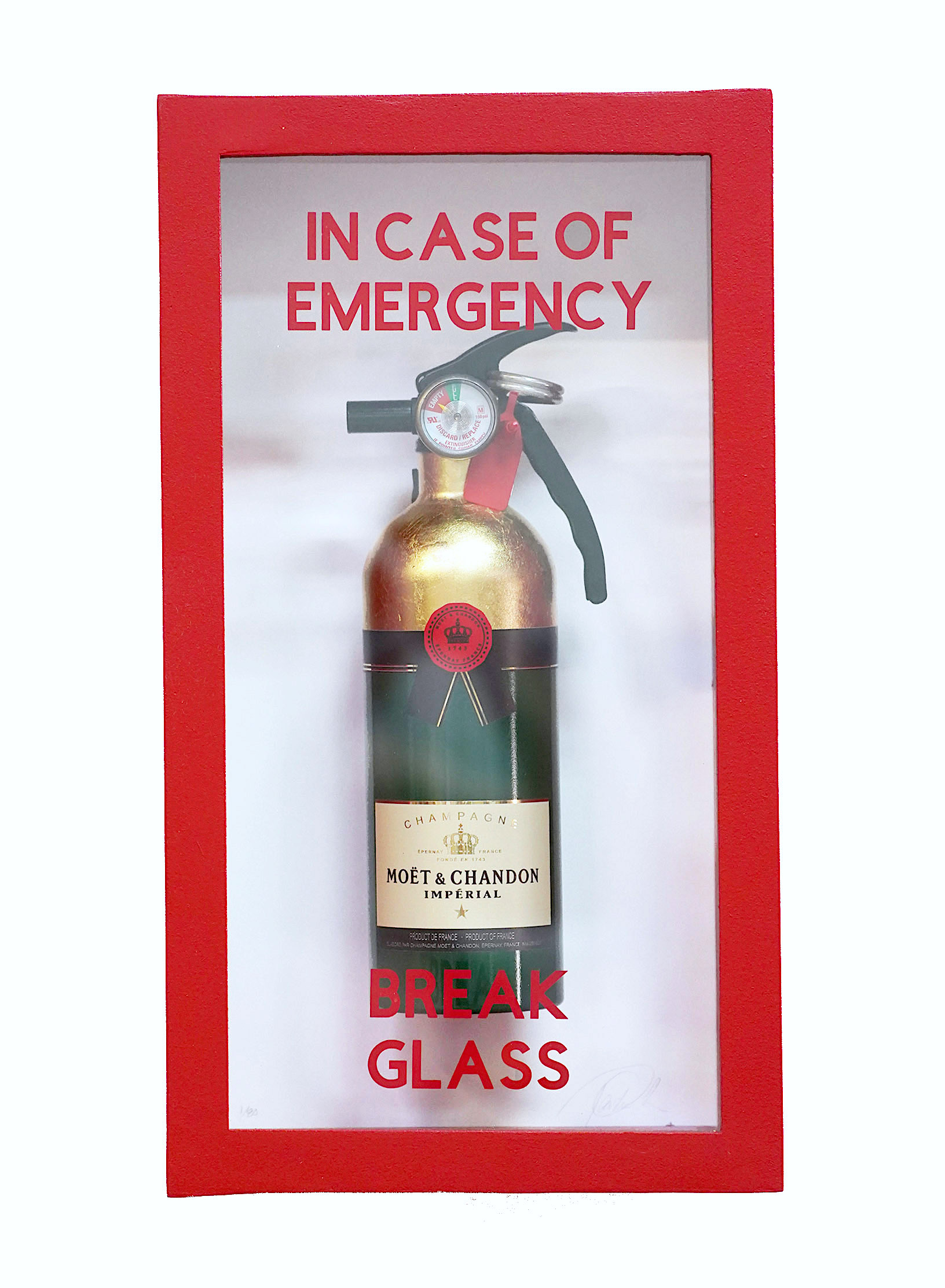 """In Case of Emergency Moet compact"""