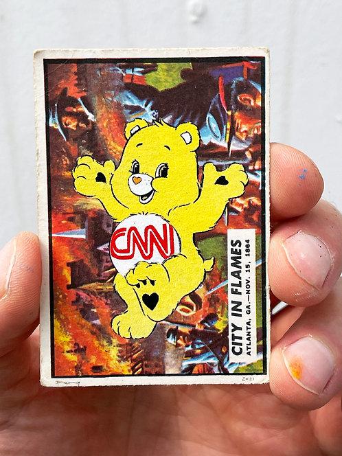 """Penny - """"Care Bear Warfare - City in Flames"""" (FRAMED) in black"""