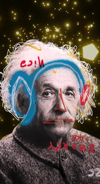 "Revolue - ""Einstein 2 "" 1/1 - NFT and physical framed"