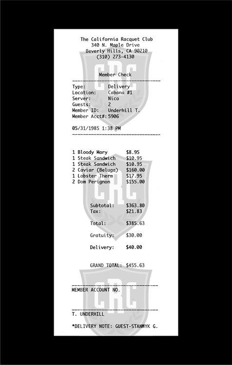 "Jason Brueck - ""Fletch receipt"""
