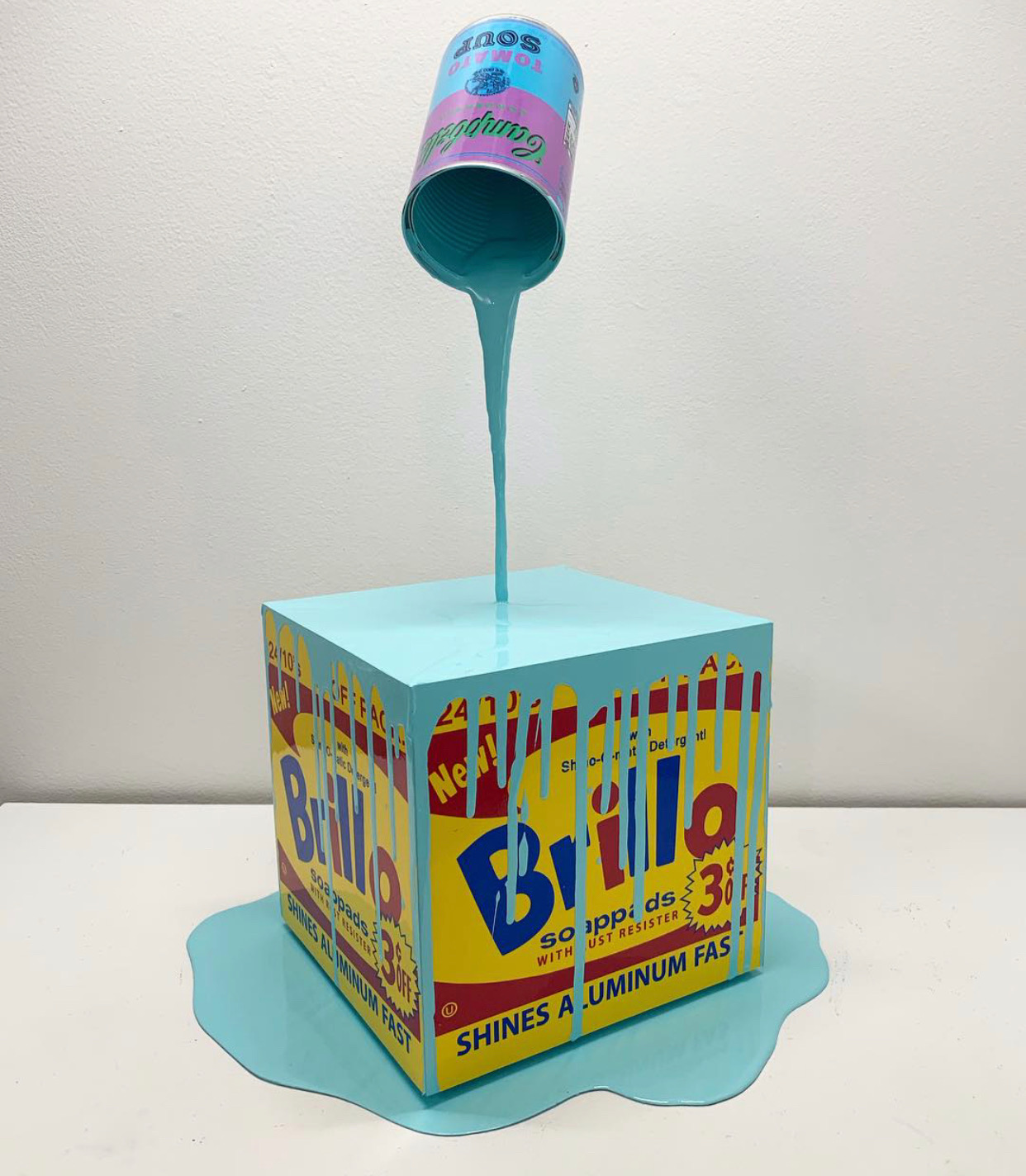 """Happy Accident - Brillo Box, Aqua"