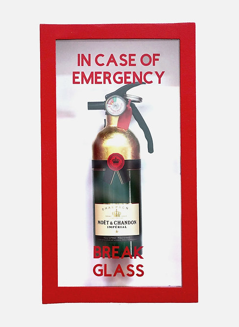 "Plastic Jesus - ""In Case Of Emergency - Moet Fire Extinguisher"""