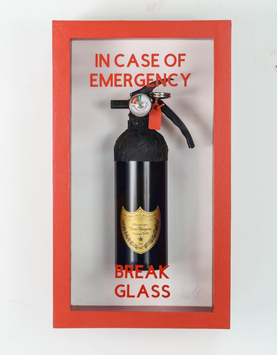 """In Case Of Emergency -Dom Perignon Fire Extinguisher"""