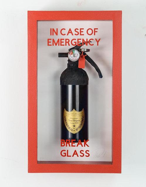 "Plastic Jesus - ""In Case Of Emergency - Dom Perignon Fire Extinguisher"""