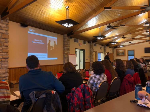 Conservation Reserve Program training attended by Americorps members.