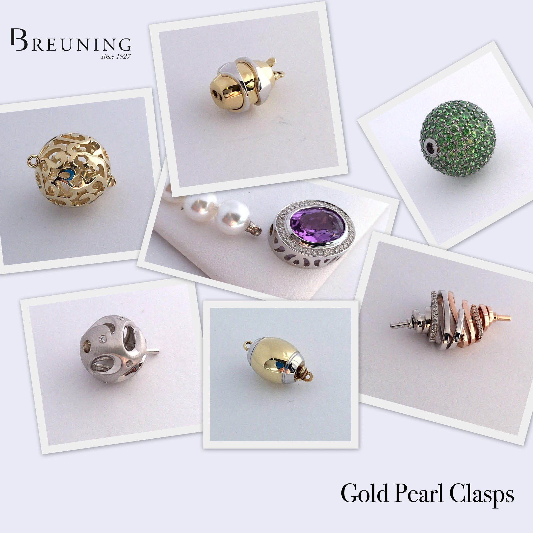 Breuning Pearl Clasps
