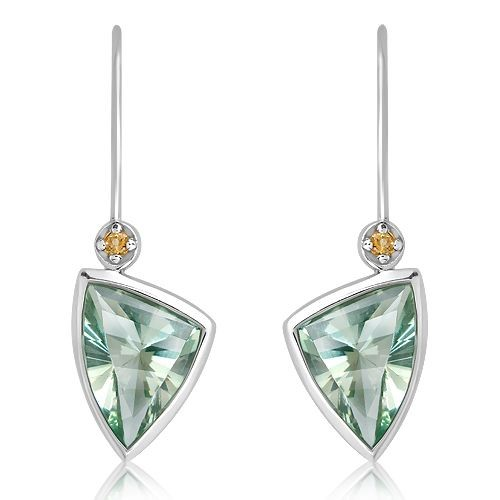 Green Amethyst & Citrine