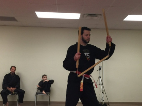 Why do you train with weapons like nunchaku and sai? I don't walk around with those in my jacket poc