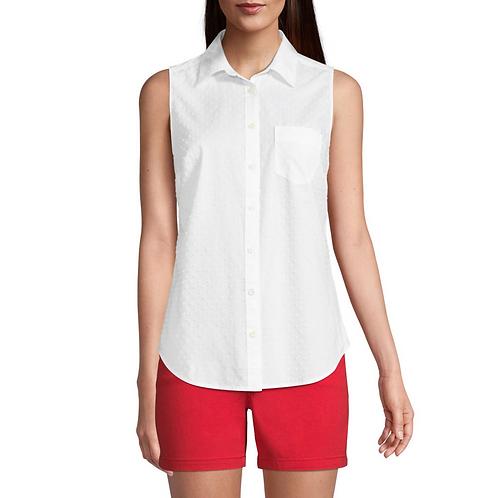 St John's Bay - Sleeveless Regular Fit Button-Down Shirt