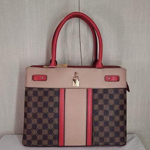 British Handbag Large Red