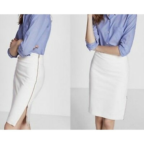 Pencil Skirt with Side Gold Zipper