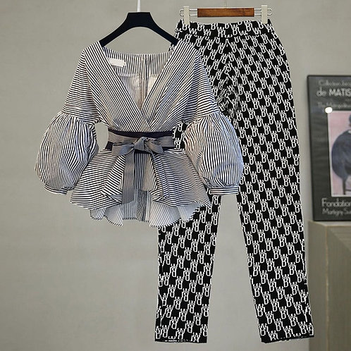 Two Piece Shirt and Pants Suit