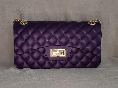 Sweet Candy Jelly Handbag Purple