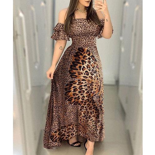 Butterfly Leopard Print Summer Dress
