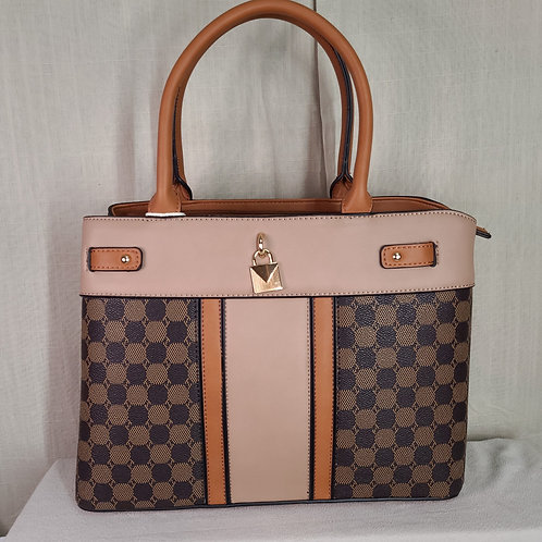 British Handbag Large Tan