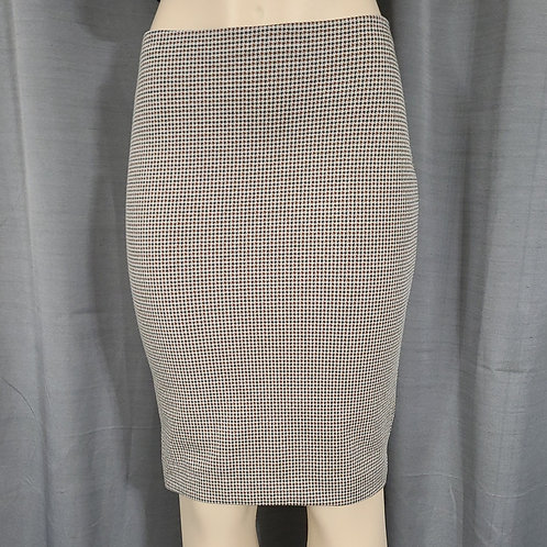 High Rise Pencil Skirt Brown Print